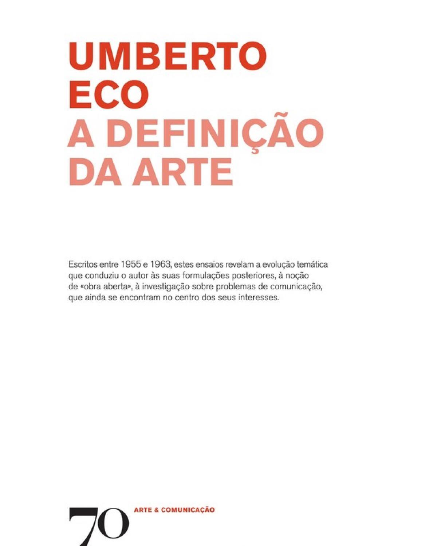 A Definição da Arte - 1ª Edição | 2011