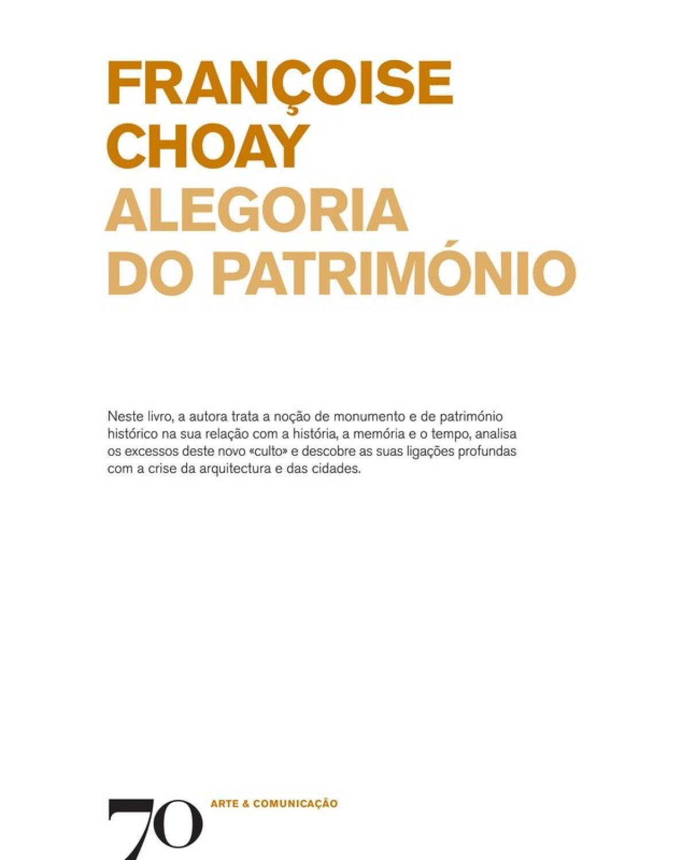 ALEGORIA DO PATRIMÓNIO - 1ª Edição   2017