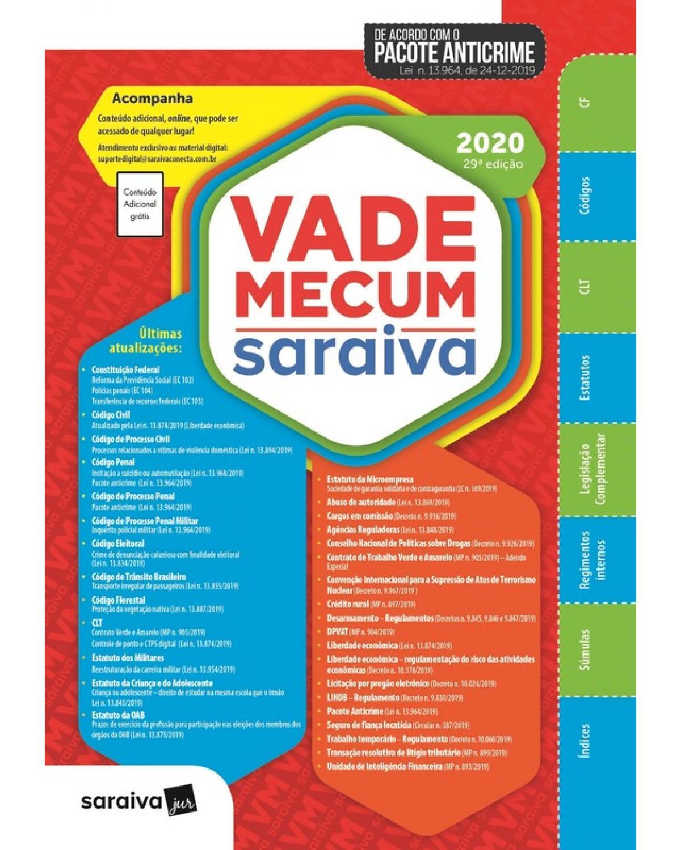 Vade Mecum Saraiva 2020 - Tradicional - 29ª edição - 29ª Edição | 2020