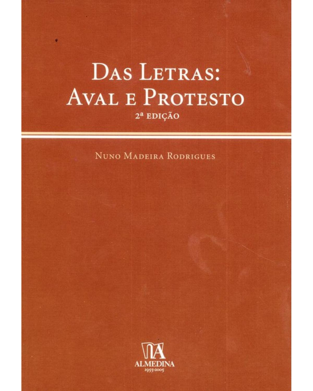 Das letras: Aval e protesto - 2ª Edição | 2005