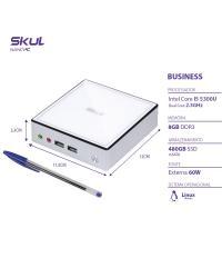 NANO COMPUTADOR BUSINESS B500 - I5 5300U 2.3GHZ MEM 8GB DDR3 SODIMM SSD 480GB WI-FI FONTE EXTERNA LINUX