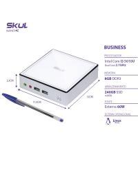 NANO COMPUTADOR BUSINESS B300 - I3 5010U 2.1GHZ MEM 8GB DDR3 SODIMM SSD 240GB WI-FI FONTE EXTERNA LINUX
