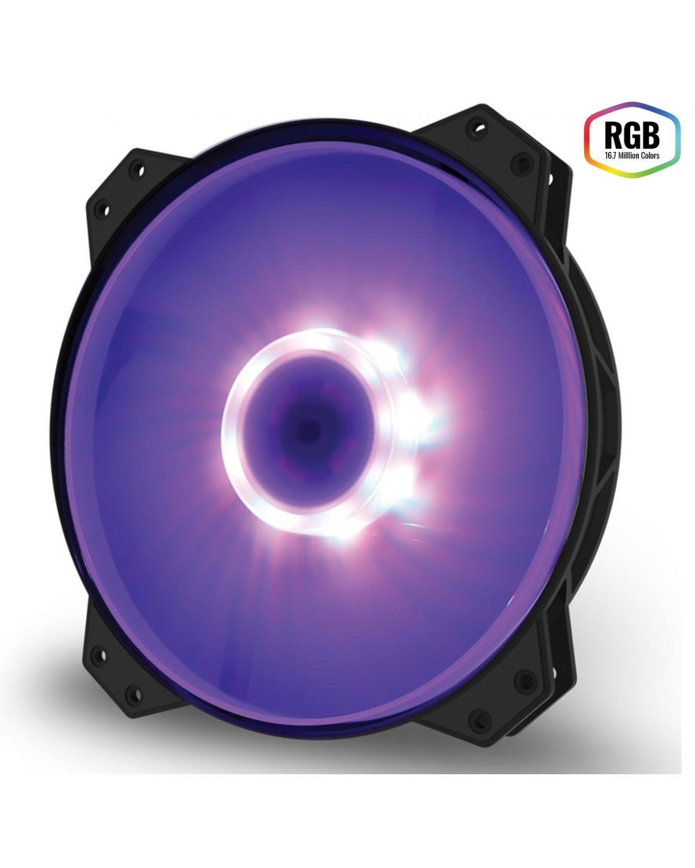 FAN PARA GABINETE 200MM MASTERFAN MF200R RGB - R4-200R-08FC-R1