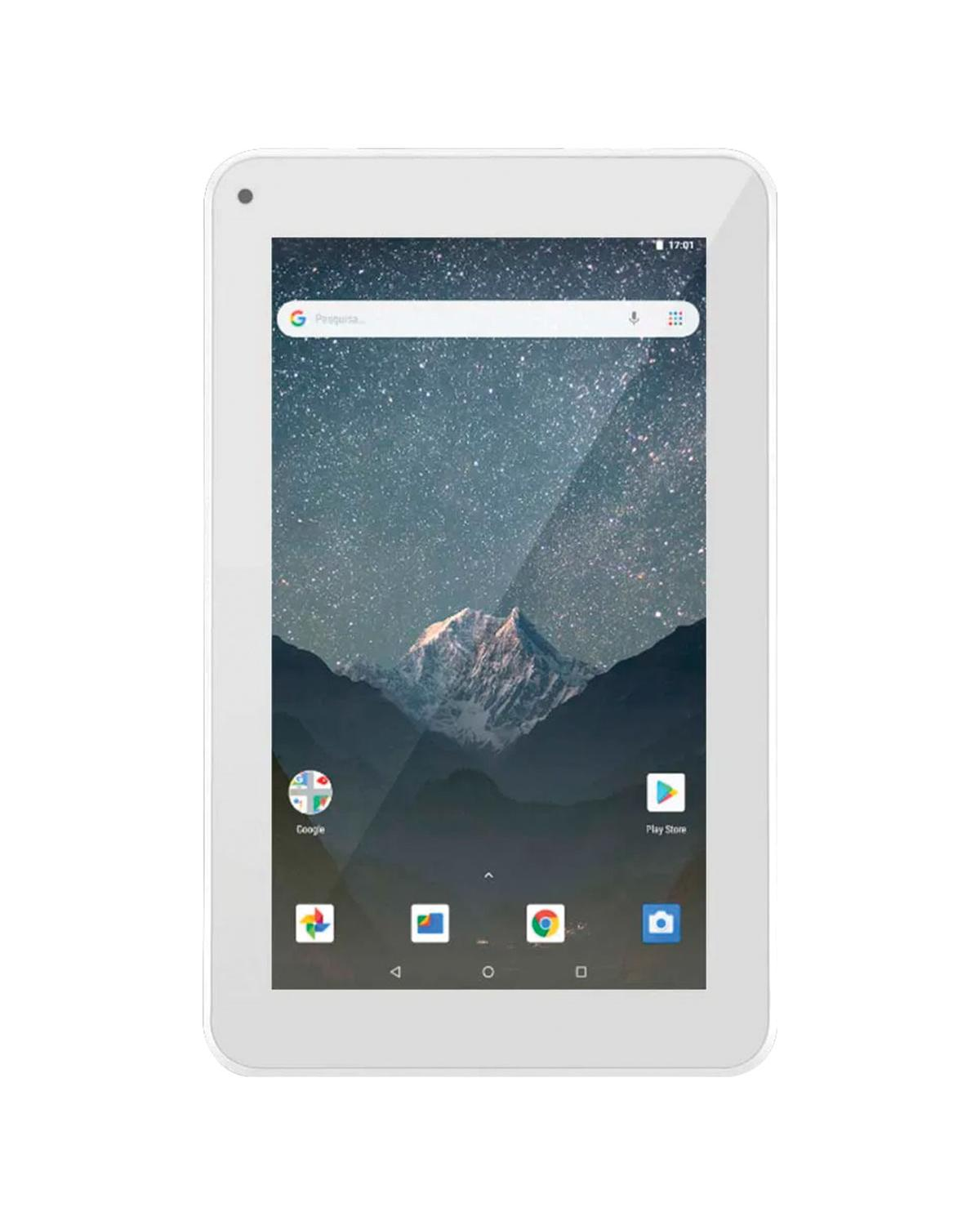 """TABLET M7S GO WI-FI 7"""" 16GB QUAD CORE ANDROID 8.1 BRANCO NB317"""