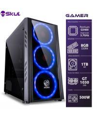 COMPUTADOR GAMER 1000 - PENTIUM G5400 3.7GHZ 8ª GER. MEM. 8GB DDR4 HD 1TB GT 1030 2GB FONTE 600W WHITE