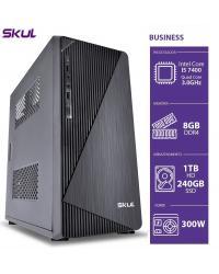 COMPUTADOR BUSINESS B500 - I5 7400 3.0GHZ 8GB DDR4 SSD 240GB HD 1TB HDMI/VGA FONTE 300W