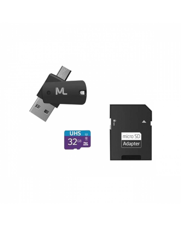 CARTÃO DE MEMÓRIA 4X1 ULTRA HIGH SPEED ATÉ 80 MB/S UHS1 32GB +ADAPTADOR SD USB DUAL MC151 CLASSE 10