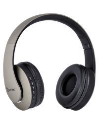 FONE HEADSET BLUETOOTH EASY WH COM FM LEITOR DE CARTÃO MICRO SD E CABO AUXILIAR P2 3.5MM CINZA - HW102
