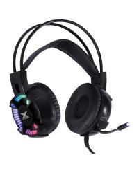 HEADSET GAMER VX GAMING ENYA AUDIO 7.1 LED RGB ESTÁTICO USB, MICROFONE FLEXÍVEL COM SOFTWARE DE ÁUDIO - GH400