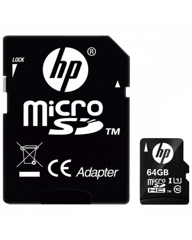 CARTÃO DE MEMÓRIA MICRO SD 64GB CLASSE 10 U1 HP HFUD064-001