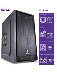 COMPUTADOR BUSINESS B500 - I5-9400 2.9GHZ 16GB(2X8GB) DDR4 HD 1TB HDMI/VGA FONTE 350W - B94001T16