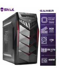 COMPUTADOR GAMER 3000 - I3 9100F 3.6GHZ 9ª GER. MEM. 8GB DDR4 HD 1TB RX 570 4GB FONTE 400W