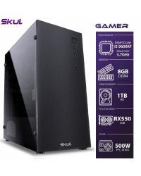 COMPUTADOR GAMER 5000 - I5 9600KF 3.7GHZ 9ª GER. MEM. 8GB DDR4 HD 1TB RX550 4GB FONTE 500W