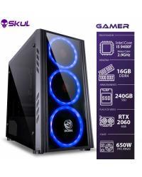 COMPUTADOR GAMER 5000 - I5 9400F 2.9GHZ 9ª GER. MEM. 16GB DDR4 SSD 240GB RTX 2060 6GB FONTE 650W