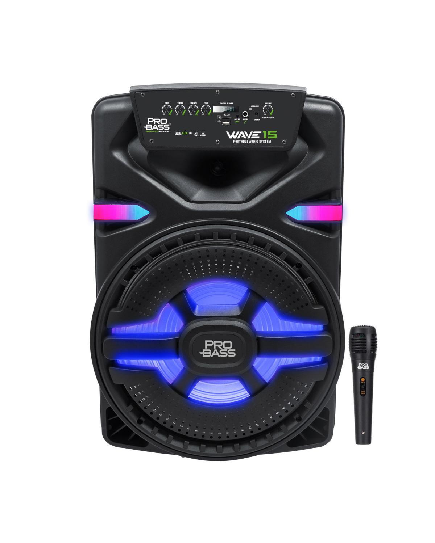 CAIXA AMPLIFICADA BLUETOOTH/SD/USB ILUMINACAO DE LED 15'' 700W WAVE15