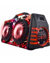 CAIXA DE SOM ATIVA PORTATIL 60W SHOCK26 BLUETOOTH/USB/SD E ENTRADAS PARA MICROFONE E GUITARRA