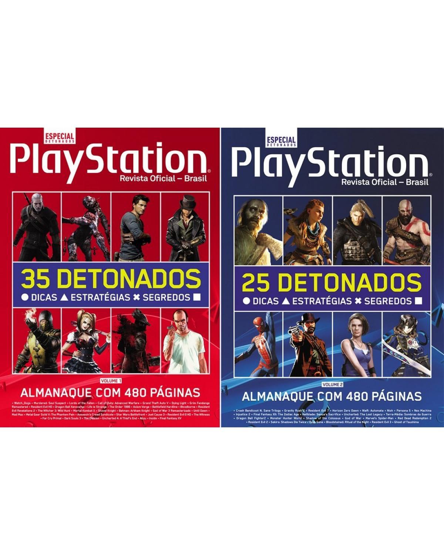 Coleção Almanaque PlayStation de Detonados (2 volumes) - 1ª Edição | 2021