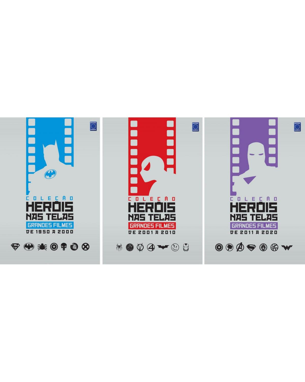 Coleção heróis nas telas: Grandes filmes (3 volumes) - 1ª Edição | 2021