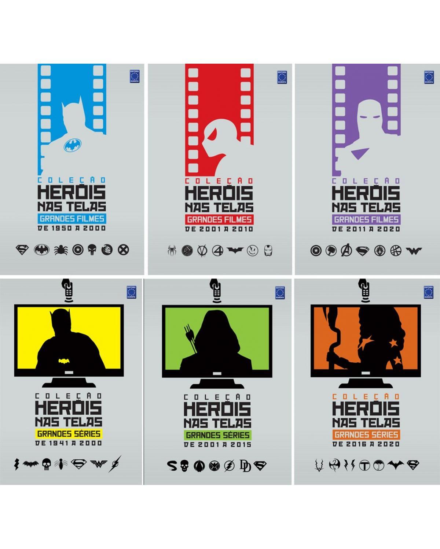 Coleção heróis nas telas: Filmes e séries (6 Volumes) - 1ª Edição | 2021