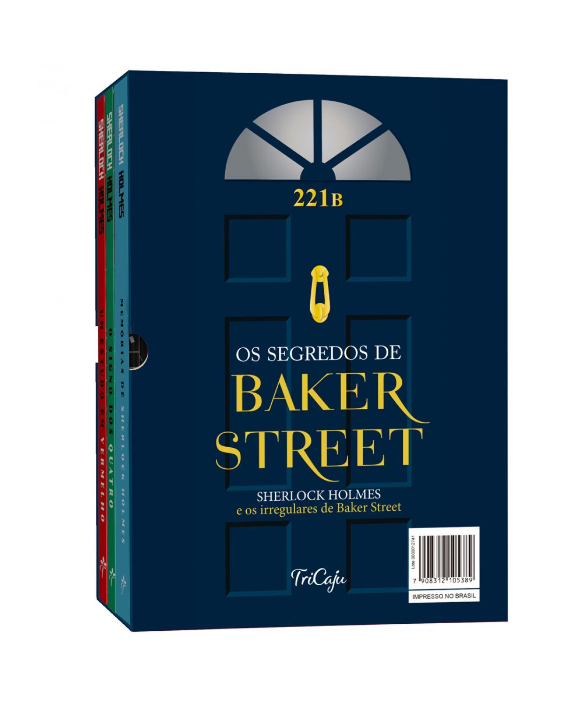 Os segredos de Baker Street - Box com 3 Livros - Sherlock Holmes e os irregulares de Baker Street - 1ª Edição | 2021