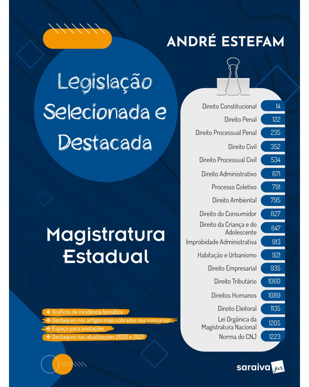 Legislação selecionada e destacada - Magistratura Estadual - 1ª Edição   2021