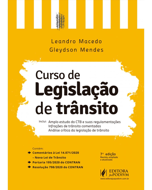 Curso de legislação de trânsito - 7ª Edição | 2021