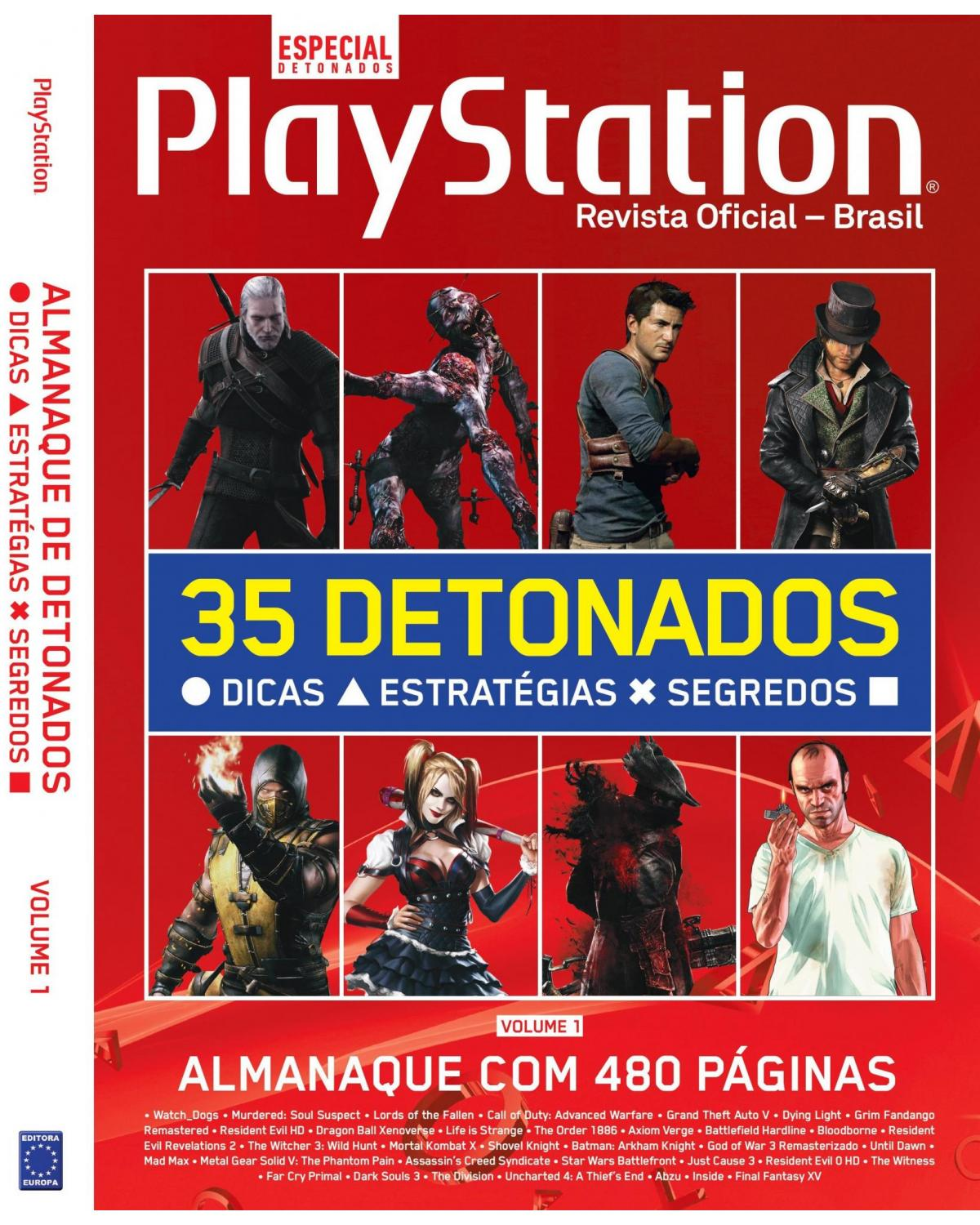 Almanaque PlayStation de Detonados - Volume 1 - 1ª Edição | 2021