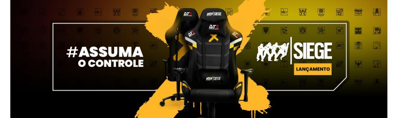 Cadeira Gamer DT3sports Rainbow Six Elise Black
